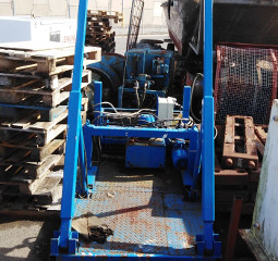 Hydraulic Winch with rise and fall Frame