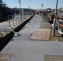 Pontoon sections 11.5 x3m with 700mm freeboard