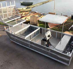 Auminium Dory 6.4m with rubish Debris removal capability