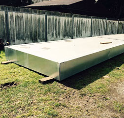 Houseboat Pontoons/ Low freeboard floats for Landing Stages 20x8 ft (two identical available)